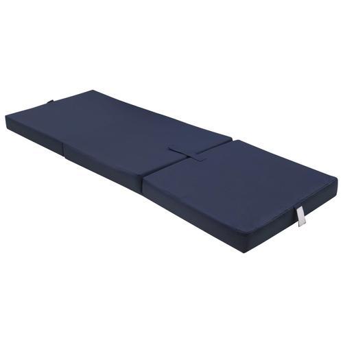 vidaXL 3-teilige Klappmatratze 190×70×9 cm Blau