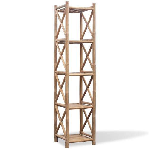 vidaXL Bambus Regal 5-etagig viereckig