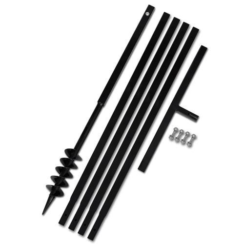 vidaXL Erdbohrer mit Griff 80 mm Verlängerungsrohr 5 m