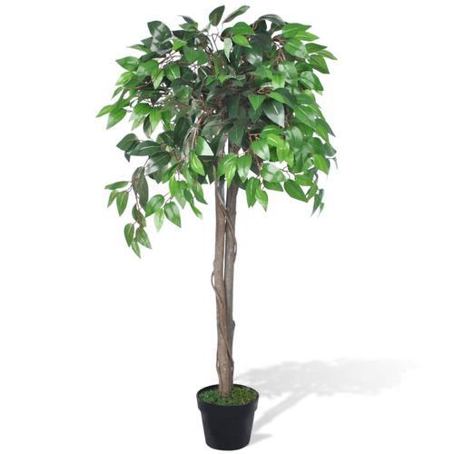vidaXL Künstlicher Ficus mit Topf 110 cm