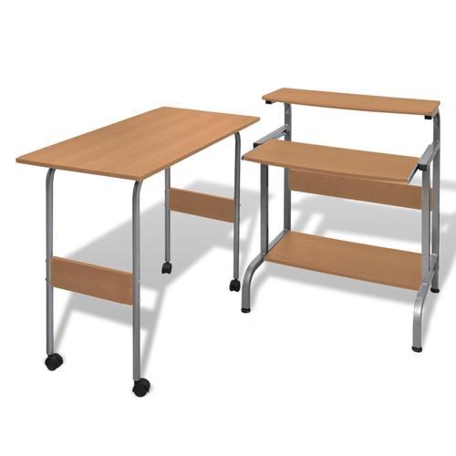 vidaXL Computertisch Schreibtisch Computerwagen PC Tisch Bürotisch Braun