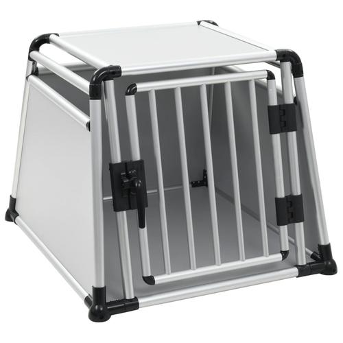 vidaXL Hundetransportbox Aluminium L