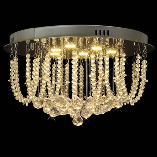 vidaXL LED-Deckenleuchte Kristallleuchter 45 cm Durchmesser