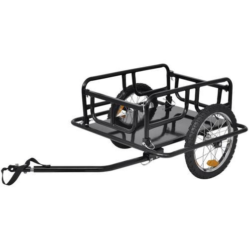 vidaXL Fahrradanhänger schwarz 50 kg