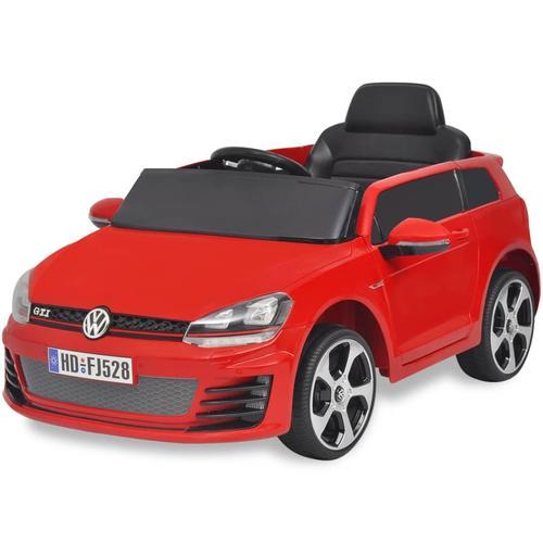 vidaXL Kinderauto Elektroauto VW Golf GTI 7 rot 12 V mit Fernbedienung