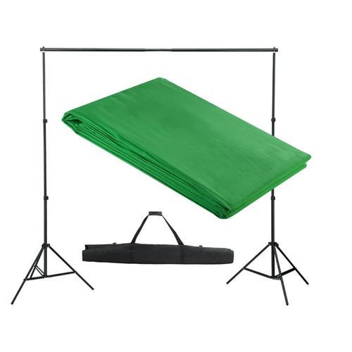 vidaXL Fotohintergrund-System 300 x 300 cm Grün