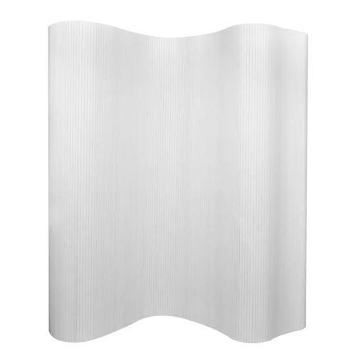 vidaXL Raumteiler Bambus Weiß 250×165 cm
