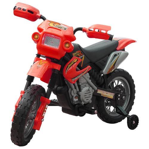 vidaXL Kinder Motorrad 2 km/h Akku rot
