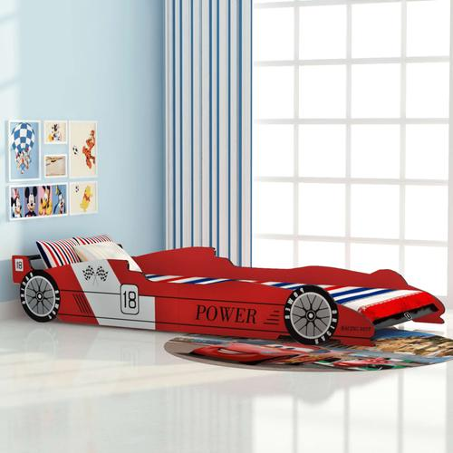 vidaXL Kinderbett Rennwagen 90x200 cm Rot