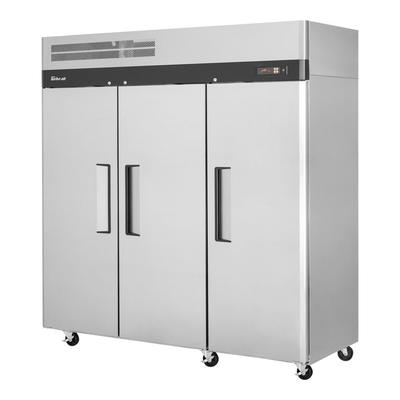 """Turbo Air M3F72-3-N 78"""" Three Section Reach In Freezer, (3) Solid Doors, 115v"""