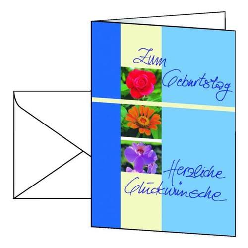 Geburtstagskarten mit Umschlägen »Trio« DS610, Sigel, 14.8x10.5 cm