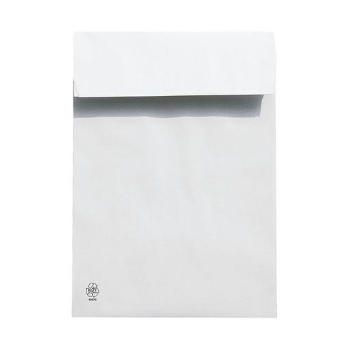 Polsterfaltentaschen B4, mit Spitzboden weiß, Steinmetz, 25x35.3 cm