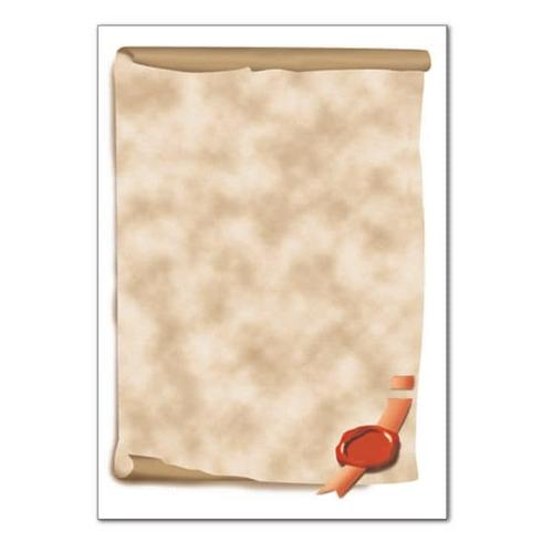Motivpapier »Urkundenrolle« DP 521 beige, Sigel, 21x29.7 cm