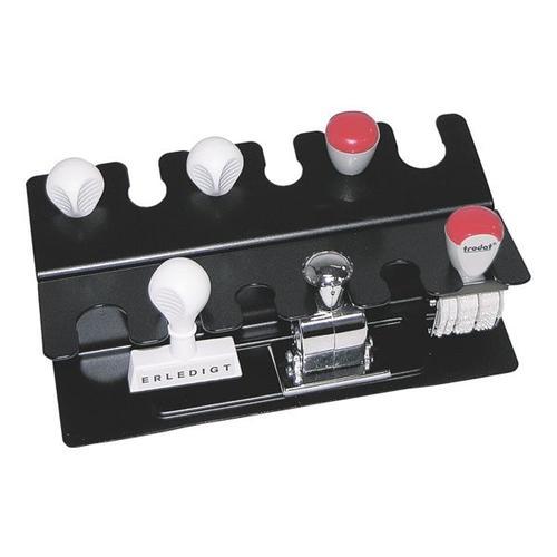 Stempelhalter für 12 Stempel schwarz, Wedo, 21.8x11.4x6.8 cm