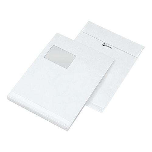 25 Versandtaschen C4 mit Fenster und Seitenfalte weiß, Mailmedia, 32.4x22.9 cm