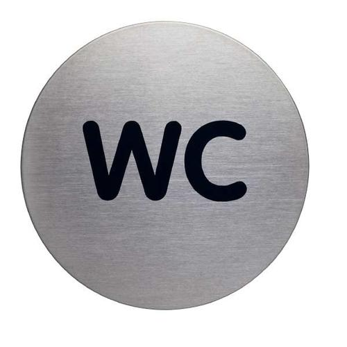Piktogramm »WC 490723« grau, Durable, 8.3 cm