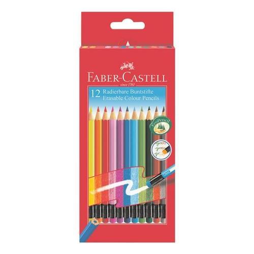 12er-Pack Buntstifte »radierbar«, Faber-Castell (Schule)