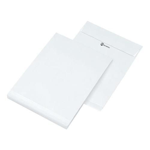 25 Versandtaschen B4 ohne Fenster mit Seitenfalte weiß, Mailmedia, 35.3x25 cm