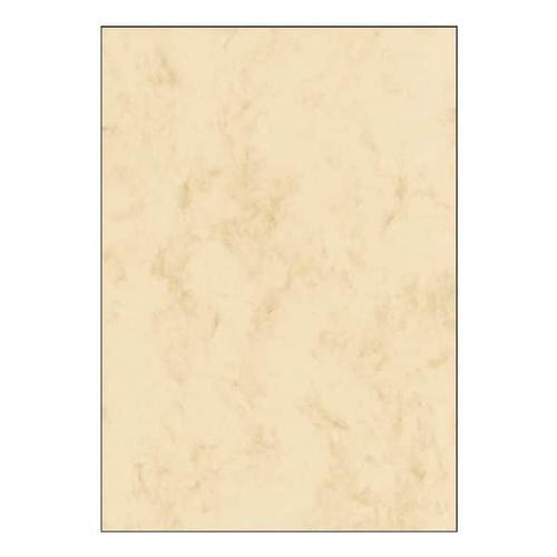 Marmorpapier - 25 Blatt - 200g/m² beige, Sigel, 21x29.7 cm