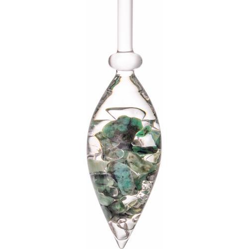 VitaJuwel Mineralstein Edelsteinphiole Vitality, Smaragd - Bergkristall bunt Mineralsteine Gesundheitsprodukte Körperpflege Gesundheit