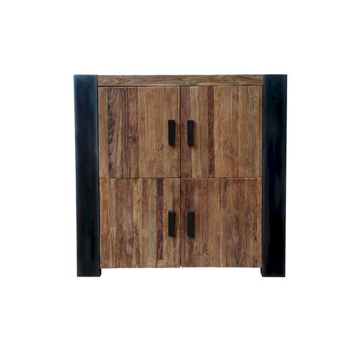 SIT Croco Teak Massivholz Highboard 4 Türen