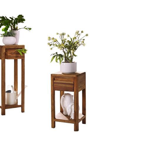 3S Frankenmöbel Massivholz Blumensäule New York Hoch / B 30 x H 90