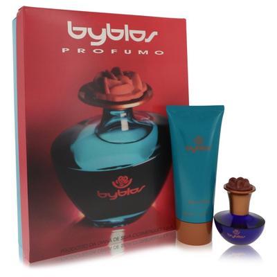 Byblos For Women By Byblos Gift Set - 1.68 Oz Eau De Parfum Spray + 6.75 Body Lotion --