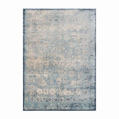 """Rosby Easy Care Area Rug - Light Blue Ivory, 5'3"""" x 7'8"""" - Frontgate"""