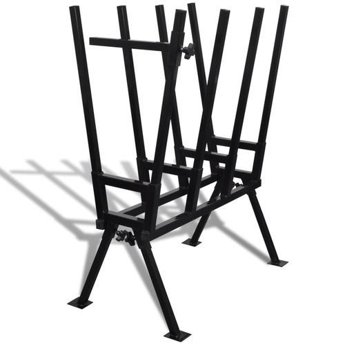 vidaXL Sägebock für Holzsägearbeiten schwarz