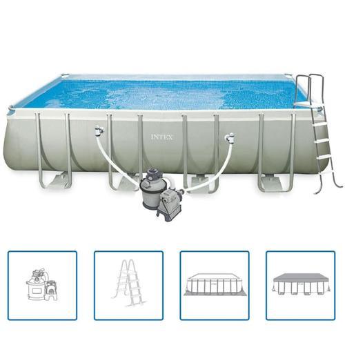 Intex Ultra Frame Rechteckiger Pool Set 549 x 274 x 132 cm 28352GN
