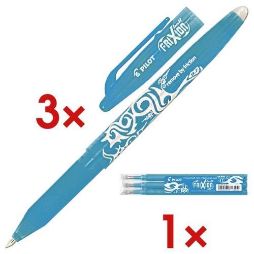 »FriXion Ball 0.7« 3er Vorrats-Set blau, Pilot