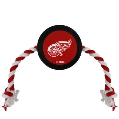 Detroit Red Wings Hockey Puck Dog Toy
