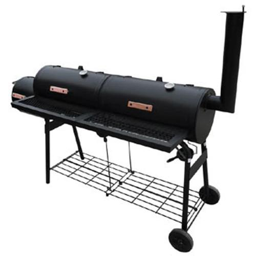 vidaXL Barbecue-Smoker Grill Nevada XL Schwarz