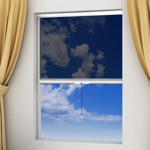 vidaXL Weißes aufrollbares Insektengitter für Fenster 140 x 170 cm