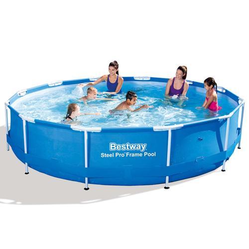 Bestway Stahl Pro Round Pool 366 x 76 cm Stahlrahmen 56706