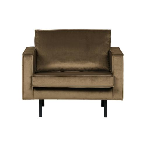 BePureHome Rodeo Sessel Samt Taupe