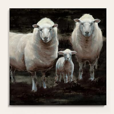 "The Flock Stretched Canvas 40"" x 40"" - Ballard Designs"