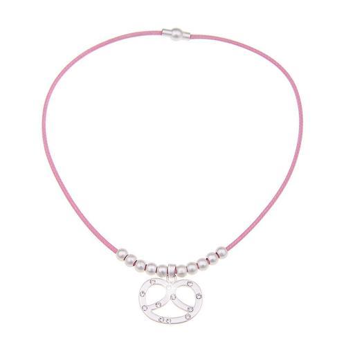 leslii Halskette mit Anhänger in Brezel-Form pink Damen Ketten Halsketten Schmuck Modeschmuck (nicht Echtschmuck)