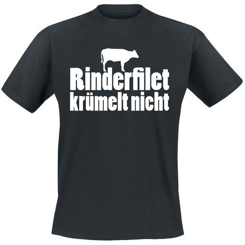 Rinderfilet krümelt nicht Herren-T-Shirt - schwarz