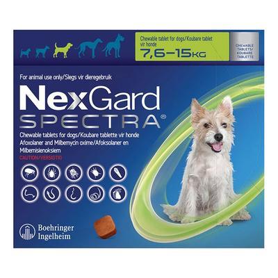 Nexgard Spectra For Medium Dogs 16.5-33 Lbs (Green) 3 Pack -