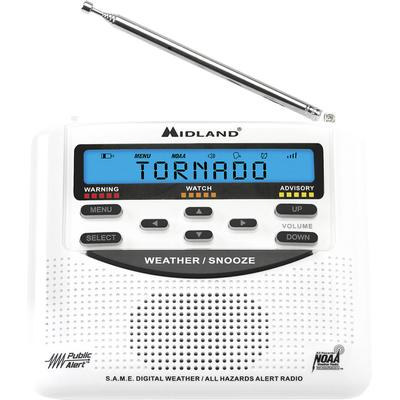 Midland WR120B Weather Alert Radio with Alarm Clock