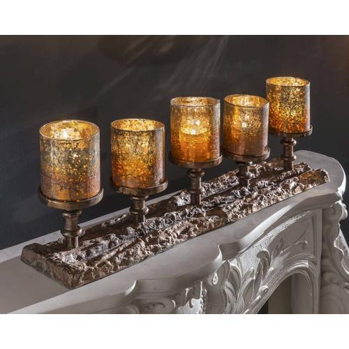 die Faktorei Kerzenhalter für 5 Kerzen inkl. 5 Gläser