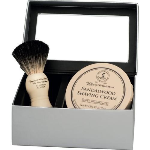 Taylor of Old Bond Street Sandalwood Gift Box Pure Badger Rasierset