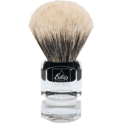 Erbe Shaving Shop Rasierpinsel Silberspitz, Plastikgriff eckig