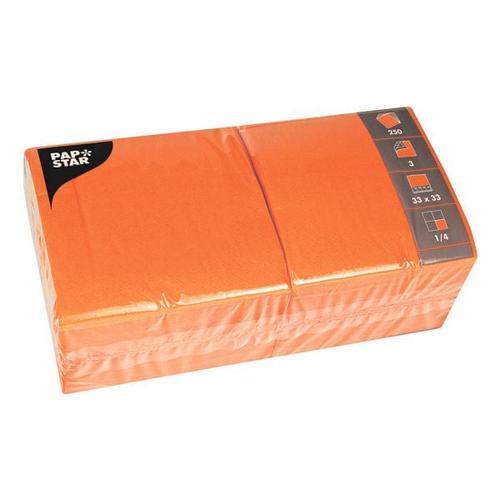 250er-Pack Servietten orange, Papstar, 33x33 cm