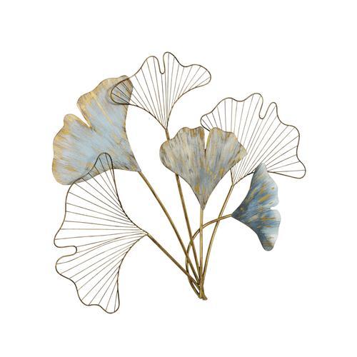 Wanddeko in Ginkgoblätter-Optik blau Wanddekoration Deko Wohnaccessoires