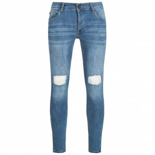 BRAVE SOUL Crofton Stretch Skinny Denim Cut Out Herren Jeans MJN-CROFTON
