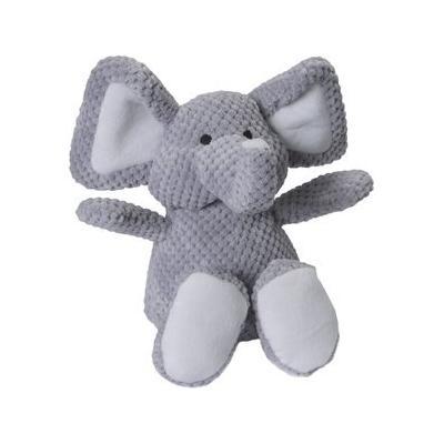 GoDog Checkers Chew Guard Elephant Squeaky Plush Dog Toy