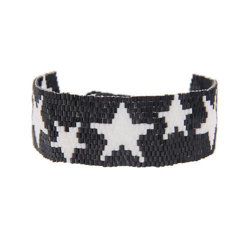 leslii Armband, mit Sternen-Motiv schwarz Damen Armbänder Schmuck Armband