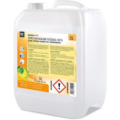 4 x 5 Liter Zitronensäure 50% flüssig